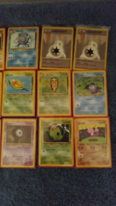Mint condition WOTC common and uncommon Pokemon cards