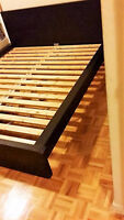 IKEA MALM QUEEN BED FRAME WITH SEALY POSTUREPEDIC MATTRESS