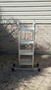Mastercraft Aluminum Articulating Ladder, 17'