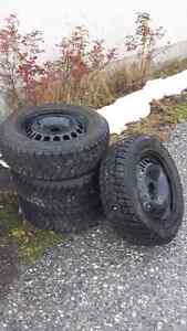 Studded winters on rims 215 60R16
