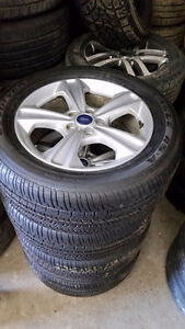 235 55 17 Michelins on OEM Ford Escape alloy rims 5 x 108 / TPMS