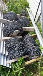 used rolls of barbed wire