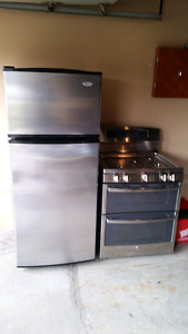Stainless steel Gas Stove and Fridge