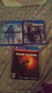 Tomb raider games ps4 for sale or trade