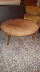 Solid Wood Antique Round Coffee Table