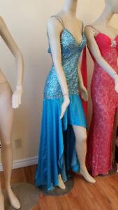 Sherri Hill 4 S Dress Formal Pageant Gown jovani Sequins Hi-Low