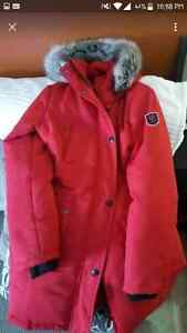 Red winter jacket size large