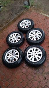 Tires on rims: 225/65/R16 on 6.5JJx16 ET50