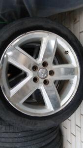 4 mags pour DODGE avec pneus