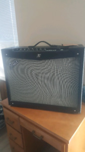 Mustang V2 by Fender guitar amp with pedal