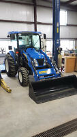 2013 New Holland 3040 boomer tractor with 6' rough cut mower