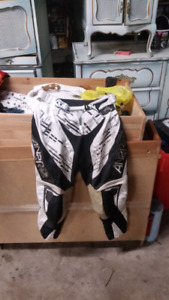 Helmet and mx pants and boots