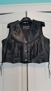 Two Ladies Leather Vests (1-XL & 1XXXL) - GREAT CONDITION