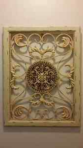 WHITE METAL ART FRENCH INSPIRED PAINTING