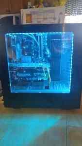 Liquid cooled gaming desktop pc