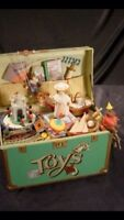 Vintage Enesco toy symphony musical treasure chest of toys
