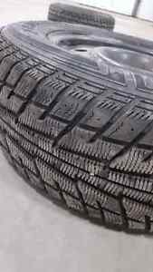 Winter Tires P235/65 R17 on steel rims