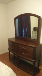 Moving Sale: Lazy Boy Store Hutch with Mirror, and Coffee Table