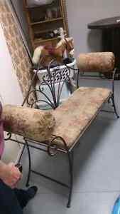 Vintage rod iron indoor bench
