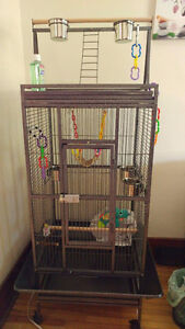 Large Bird Cage Suitable For Medium To Large Sized Parrot