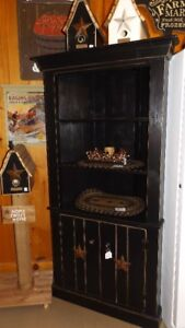 Antique Black Corner Cabinet