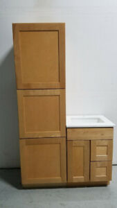 vanities and kitchen ,, interior doors and trim
