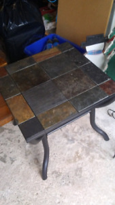 Slate end table