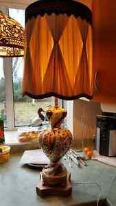 "Spectacular vintage Capodimonte Italian porcelain lamp 35.5"" tal"