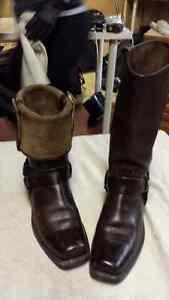 FRYE Women's Harness Cuff Boot, Dark Brown, 6.5 M US