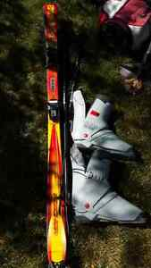 Set of Skis with bindings, boots & poles