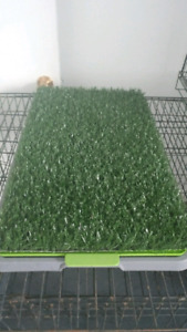 Puppy fake grass pee pad