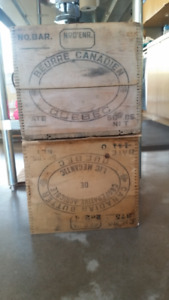Canadian Butter Wood Box Crate Antique - Three (3) available