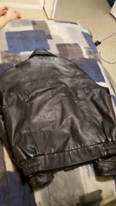 Genuine leather Syncrude oil-company mens jacket