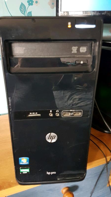 HP PRO DESKTOP PC COMPUTER WINDOWS 10, AMD A4-3400, 500GB HDD,4GB DDR3   in  Chesterfield, Derbyshire   Gumtree