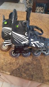 Reebok Rollerblades, Jr Sz 2. Roller blades, hockey, skates