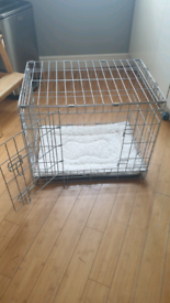 Extra small grey dog crate & indoor puppy toilet
