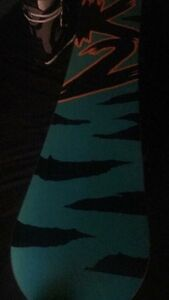 K2 Snowboard and biding's 147 with boots OBO Prince George British Columbia image 3