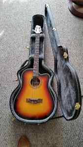 Stagg Acoustic Bass 4 string guitar and hard case