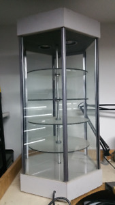 Rotating Glass Display Case With LIGHTS!