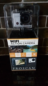 Proscan 1080P Sports & Action Video Camera with Wi-Fi, 2-Inch Sc