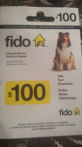 $100 fido prepaid voucher for only $85!!!