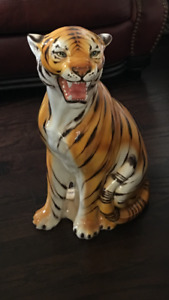 Beautiful glass tiger from Deboers furniture store