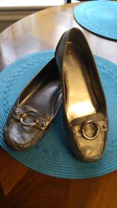 Silver Calvin Klein shoe's size 8 perfect condition $20