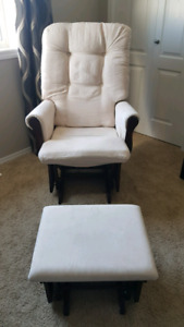 Gliding chair and ottoman