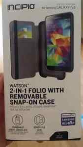 Incipio 2 in 1 folio w/Removable Snap On Case for Galaxy S5, Neo