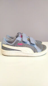 Puma Blue Glitter Sneakers, Toddler Girl, Size 9
