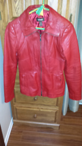 Red Danier soft leather jacket