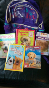 Children's Book Bag and 5 Pet Books