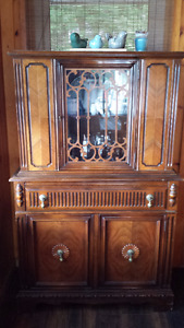 Antique China Cabinet and Matching Buffet