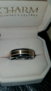 MEN'S GOLD & COBALT RING SIZE 10